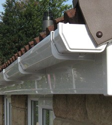 Gutters to prevent water damage